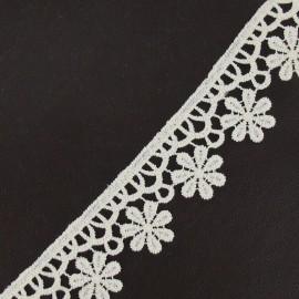 Guipure lace, Flowers 30 mm - ecru