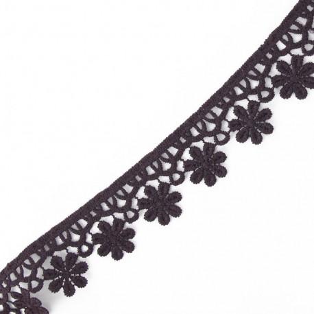 Guipure Fleurs 30mm Violet