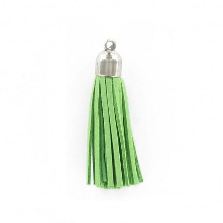 Buckskin Pompom - apple green