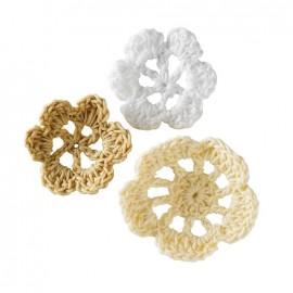 Crochet Flowers (1 pack of 6) - ivory