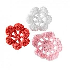 Crochet Flowers (1 pack of 6) - pink