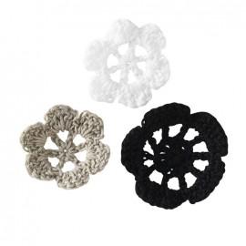Crochet Flowers (1 pack of 6) - black