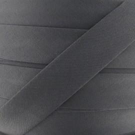 Biais Tout Textile gris 20 mm