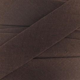 Biais Tout Textile marron 20 mm