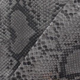 Tissu Ecailles Vernies Gris x 10cm