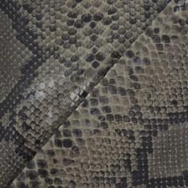 Tissu Ecailles Vernies Brun x 10cm