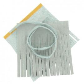 """♥ Set of leather double pompom, large-size """"Chalk"""" - light blue ♥"""