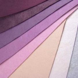 Feutrine de laine rose/bordeaux