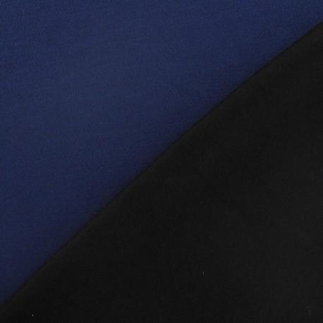 Tissu Jersey double-face marine/noir x 10cm