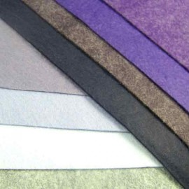 Feutrine de laine bleu/violet