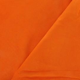 Faux suede fabric - orange Solveig x 10cm