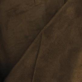 Tissu Suédine Solveig chocolat x 10cm