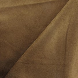Suede Fabric - Solveig brown x 10cm