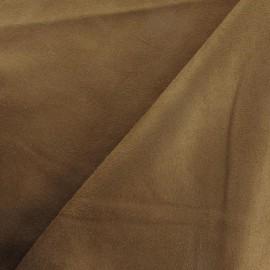 Tissu Suédine Solveig marron x 10cm
