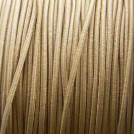 Fil élastique à chapeau 1.5 mm beige