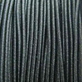 Fil élastique à chapeau 1.5 mm noir