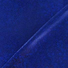 Tissu Lycra écailles bleu roy x 10cm