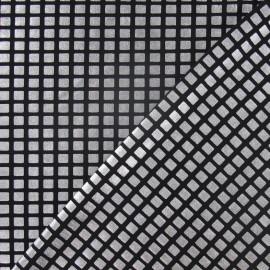 Tissu Lycra carreaux argent x 10cm