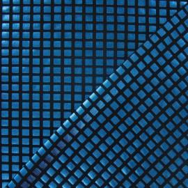 Tissu Lycra carreaux turquoise x 10cm