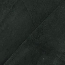 Tissu velours milleraies élasthanne vert bouteille x 10cm