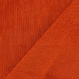 Milleraies elastane velvet fabric - orange x 10cm