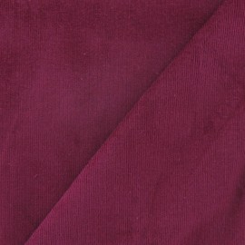 Milleraies elastane velvet fabric - dark purple x 10cm