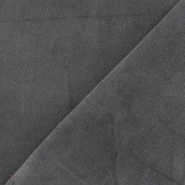 Milleraies elastane velvet fabric - grey pearl x 10cm