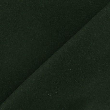 Tissu drap de laine vert militaire x 10cm