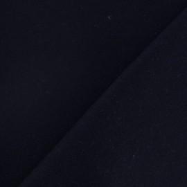 Tissu drap de laine bleu nuit x 10cm
