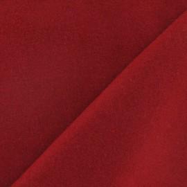 Tissu drap de laine rouge carmin x 10cm