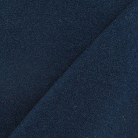 Wool broadcloth fabric - peacock blue x 10cm