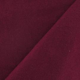 Tissu drap de laine framboise x 10cm