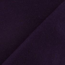 Tissu drap de laine encre violette x 10cm