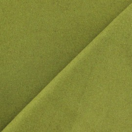 Wool fabric - lime green x 10cm