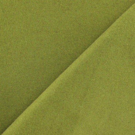 Wool fabric - lime green x 10cm