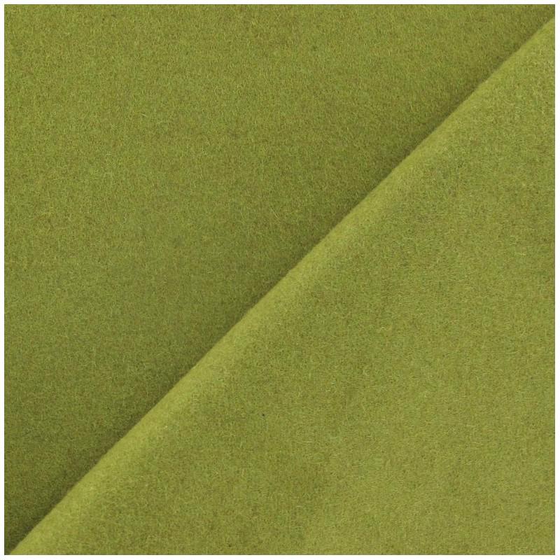 Tissu drap de laine vert anis x 10cm ma petite mercerie - Tissu pour drap ...