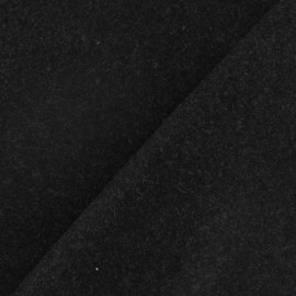 Tissu drap de laine gris anthracite x 10cm