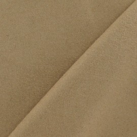 Wool fabric - dark sand x 10cm