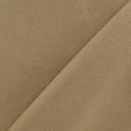 Wool fabric - dark sand x 10cm
