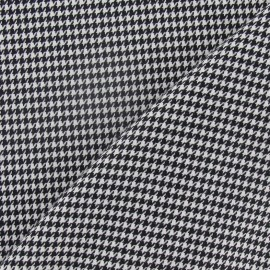 Houdstooth mini wool fabric - black and white x 10cm