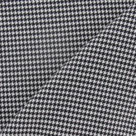 Tissu lainage pied de poule noir et blanc mini x 10cm