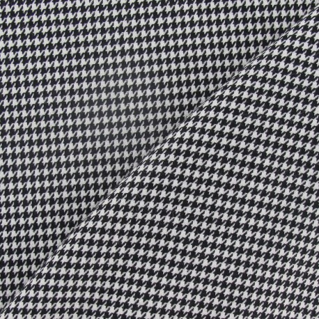 Houdstooth mini wool fabric - black and white x 10cm