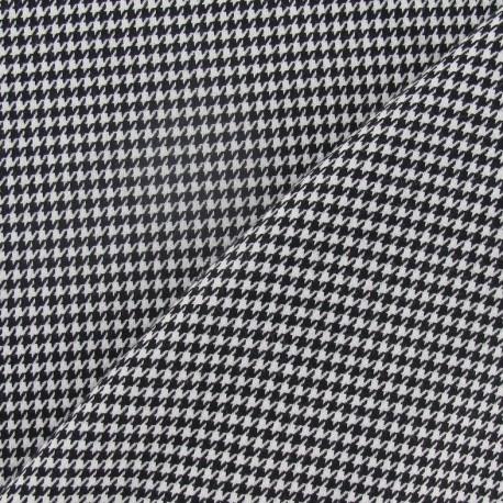 Tissu lainage pied de poule noir et blanc x 10cm