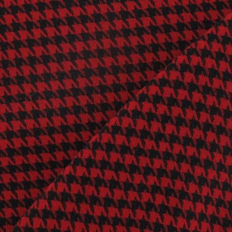Tissus pas cher tissu lainage pied de poule rouge et - Tissus rouge pas cher ...