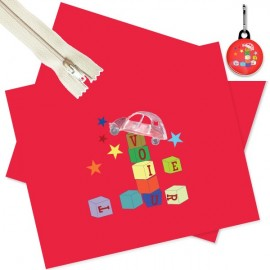 Sewing pocket kit - red/royal blue