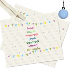 Kit couture pochette semaine 17/21 cm
