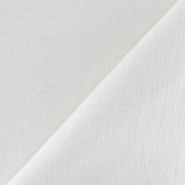 Tissu velours milleraies élasthanne écru x10cm