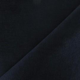Tissu velours milleraies élasthanne marine x10cm
