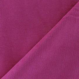 Tissu velours milleraies élasthanne fuchsia x10cm