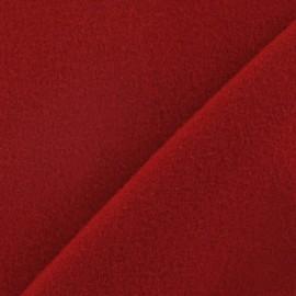 ♥ Coupon 140 cm X 150 cm ♥ Tissu cachemire rouge carmin